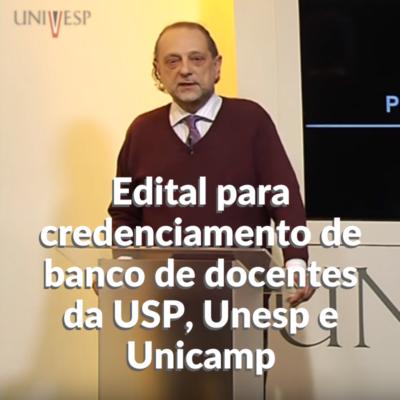 """Professor Cláudio Possani na frente de uma projeção de slides escrita """"Aula nº 4, Cálculo I, Prof. Cláudio Possani, Limites"""""""